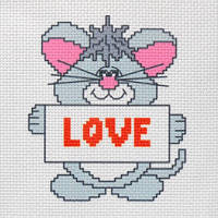 """Канва с рисунком для вышивки крестом  """"Love"""""""