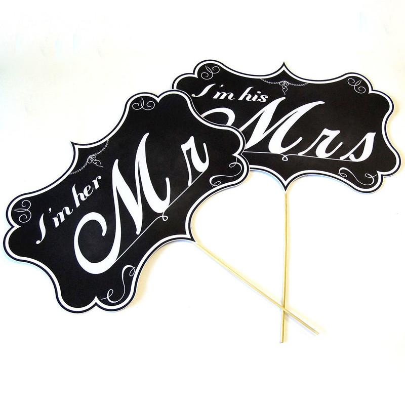 """Таблички для фотосессии """"Mr&Mrs"""" (Арт. F-039) - """"Marry Time"""" - Свадебный интернет-магазин №1 в Украине  в Киеве"""
