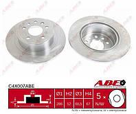 Задний тормозной диск Опель Омега Б 1994-->2003 ABE (Польша) C4X007ABE