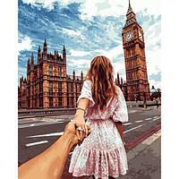 "Картина раскраска по номерам ""Следуй за мной. Лондон"" набор для рисования"