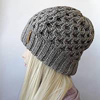 Женские шапки зима двойная ( Сетка )
