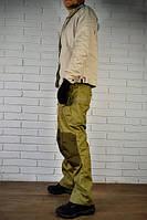 Тактические брюки мужские. Колени и шлейки усилены кордурой