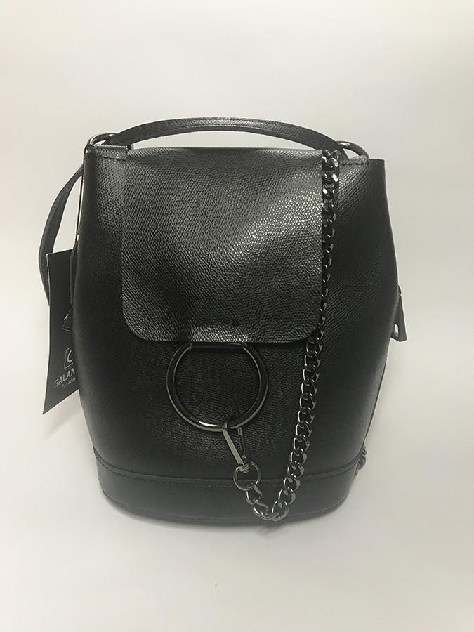 b100199cb053 Сумка-рюкзак женская из натуральной кожи черного цвета - Интернет-магазин стильной  женской обуви