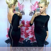 Женское стильное платье с молнией на сзади, 3 цвета