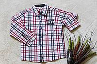 Рубашка для мальчика клетка