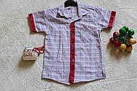 Детские рубашки для мальчика клетка 5-9 лет.