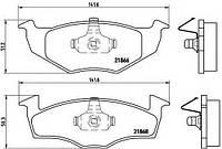 DBB 609.10 Тормозные колодки (передние под вентилируемые диски) SKODA 6N0698151C