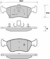 DBB 676.00 Тормозные колодки (передние) TOYOTA Avensis 0446505110