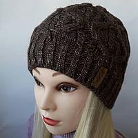 Женские шапки зима на флисе с люриксом Г 111