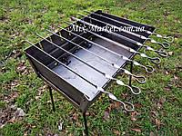Раскладной мангал чемодан на 8 шампуров + комплект шампуров