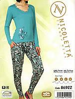 Пижама женская с цветочком - Вискоза