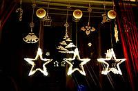 """Новогодняя гирлянда-украшение на окно в виде звезды """"Путеводная звезда"""""""
