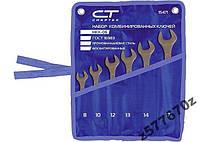 Набор ключей комбинированных, 6 - 19 мм, 8 шт., CrV, фосфатированные, ГОСТ 16983 СИБРТЕХ