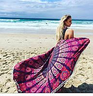 Подстилка для пляжа и пекника круглая Мандала