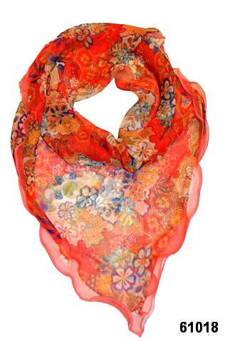 Нежный шейный платок 60*60  (61018) 1