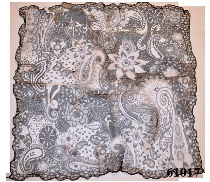 Нежный шейный платок 60*60  (61017) 2