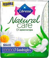 Прокладки гигиенические Libresse Natural Care Maxi Goodnight 7 шт 7 капель