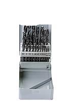 Набор сверл по металлу, 1-10 мм (через 0,5 мм+3,2и4,8 мм), HSS, 21шт, мет.бокс, цилин.хв. SPARTA