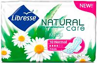 Прокладки гигиенические Libresse Natural Care Maxi Normal 10 шт 4 капель