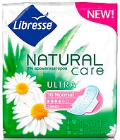 Прокладки гигиенические Libresse Natural Care Ultra Normal 10 шт 4 капель