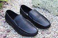 Подростковые мокасины чёрные, фото 1