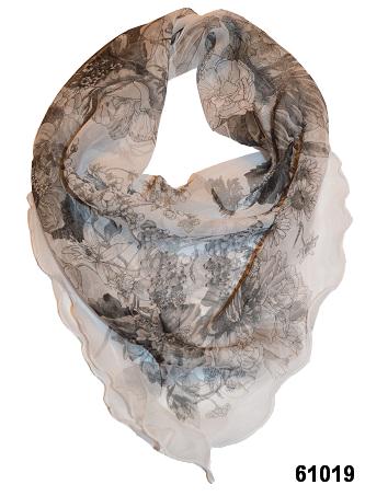 Нежный шейный платок 60*60  (61019) 1