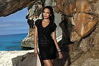 Пляжное платье ажурное черное TUNIKA F60 532