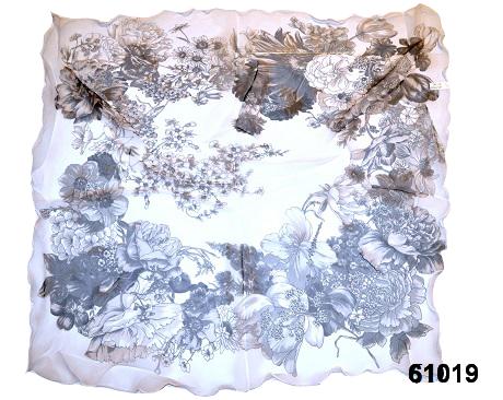 Нежный шейный платок 60*60  (61019) 3