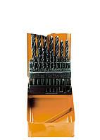Набор сверл по металлу, 1-10 мм (через 0,5 мм), HSS, 19 шт., метал. бокс, цилинд. хвост. SPARTA