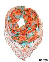Нежный шейный платок 60*60  (61026), фото 1