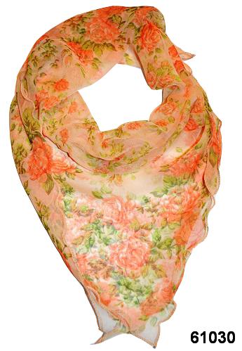Нежный шейный платок 60*60  (61030) 1