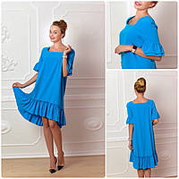Платье 789 ярко голубой