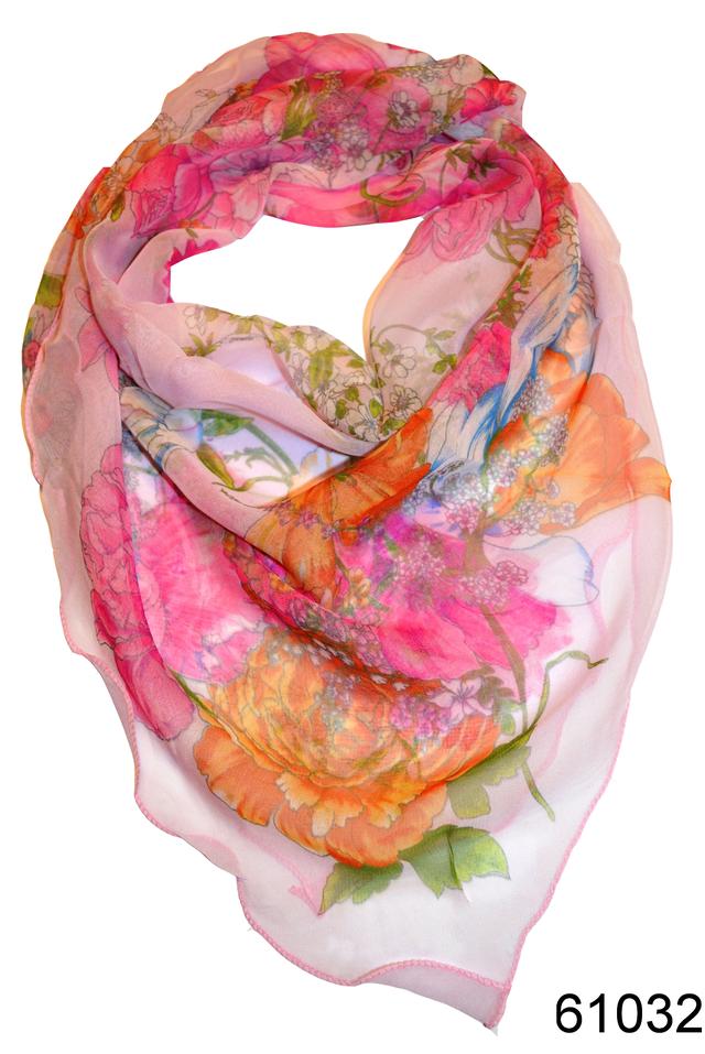 Нежный шейный платок 60*60  (61032) 1