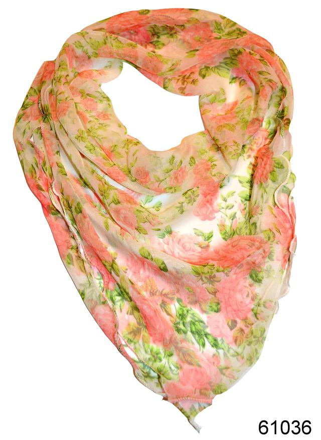 Нежный шейный платок 60*60  (61036) 1
