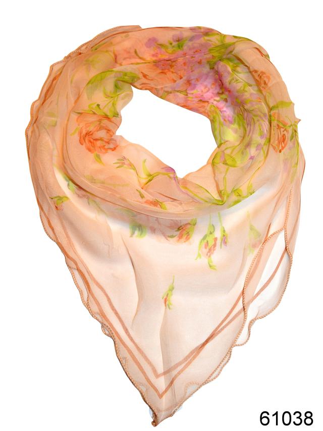 Нежный шейный платок 60*60  (61038) 1