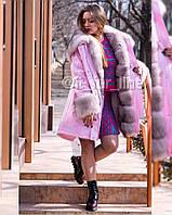 Эксклюзивная Парка женская с мехом финского песца, внутри испанский кроль, 44, 46 р