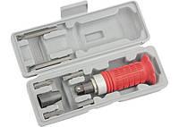 Отвертка ударно-поворотная 1/2, набор бит, 6 шт, обрезиненная ручка, в пластиковом боксе