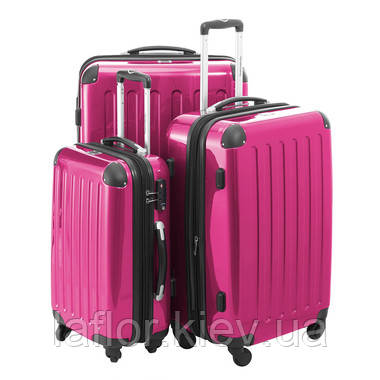 Набор чемоданов ( 3 штуки) Hauptstadtkoffer Alex розовый