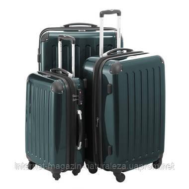 Набор чемоданов Hauptstadtkoffer Alex темно-зеленый 3 штуки, фото 2