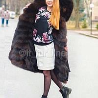 Эксклюзивная Парка зимняя с восхитительным мехом финского песца , 2 в 1, с отстежкой на жилет, в наличии 46