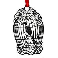 Школьная закладка книжная Птица в клетке