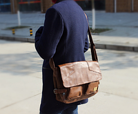 Мужская кожаная сумка. Модель 61234, фото 4