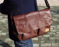 Мужская кожаная сумка. Модель 61234, фото 3