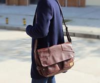 Мужская кожаная сумка. Модель 61234, фото 5
