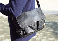 Мужская кожаная сумка. Модель 61234, фото 6