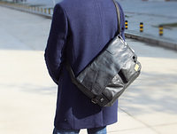 Мужская кожаная сумка. Модель 61234, фото 7