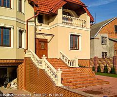 Балюстрада из бетона во Львове | Балясины желтые в Львовской области 3