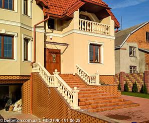 Балюстрада из бетона во Львове | Балясины желтые в Львовской области 4