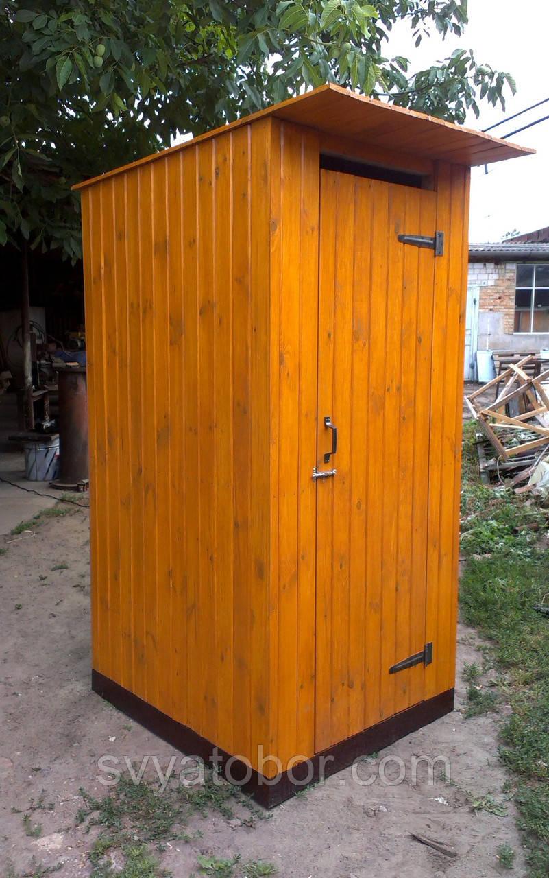 Почтой - Туалет деревянный из имитации бруса (обшивка вертикально) - в разобранном виде