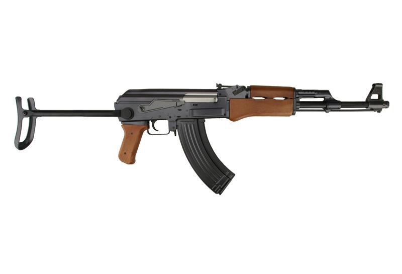 Детский Автомат металлический АК-47 со складным прикладом на пульках 1:1